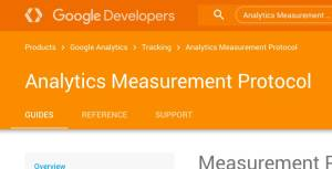 Google Analytics Measurement protocol screenshot