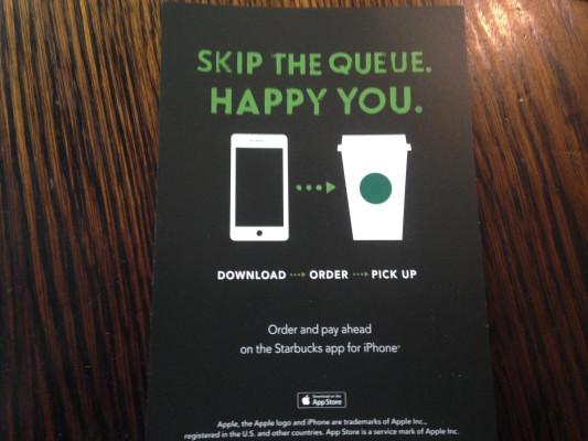 Mobile App ordering flyer