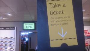 John Lewis digital queue manager