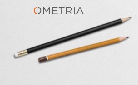 Ometria logo and pencils